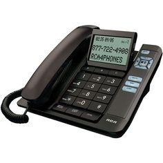 Rca Corded Desktop Phone With Caller Id (black)