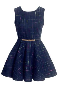 #Classic #Plaid Pleated Princess A-Line #Dress - OASAP.com ★ Pair it with boots! ★21% off Coupon Code: Pumpkin ❀ Ends on Nov.1st.