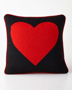 """Heart Pillow by Jonathan Adler at Neiman Marcus. $165.00 16"""" square, 100% wool."""