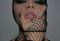 Unknown Fish Net Mask Fashion