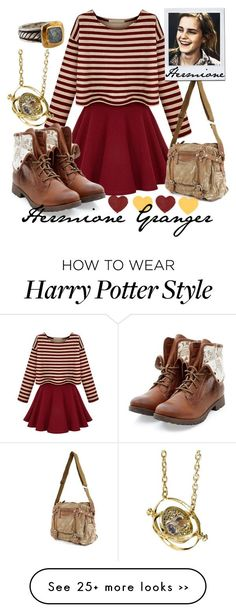 """Hermione Granger"" by nadies-fashions on Polyvore featuring Emma Watson #style_outfits_wardrobes"