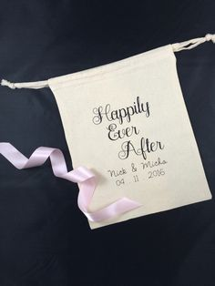 A personal favorite from my Etsy shop https://www.etsy.com/listing/274856360/happily-ever-after-personalized-favor