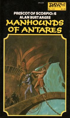 JACK GAUGHAN - The Manhounds of Antares by Alan Burt Akers - 1974 DAW Books