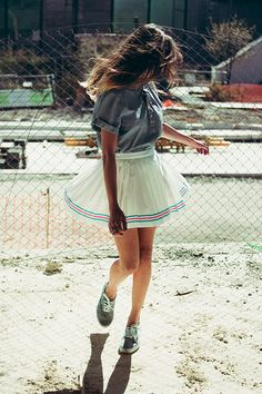 #nattygal #clothes #outfit #woman #summer #denim #shirt #skirt #white #marine #vans