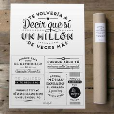 """SORTEO Mr. Wonderful: Kit de Aniversario + Lámina """"Te volvería a decir que sí un millón de veces más"""" - Paperblog"""