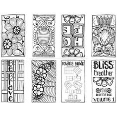 Bliss Breather Mini Coloring Book Volume 1