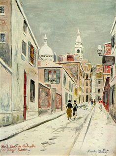 Sacre-Coeur and Passage Cottin - Maurice Utrillo