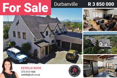 This beautiful family home is nestled away in the heart of Durbanville. If you enjoy entertaining or just lazing away next to the pool with your family - look no further. The inviting lounge with fireplace flows into the dining area and spacious kitchen with built in oven and hob. There is a separate scullery with ample space and plumbing points for a washing machine and dishwasher. #CCH #durbanville #houseforsale #durbanvillecentral #durbanvillehomes #capetown #propertiesforsale Oven And Hob, 6 Bedroom House, Best Hospitals, Built In Desk, Cozy Fireplace, Water Lighting, City Living, Coastal Homes, Beautiful Family