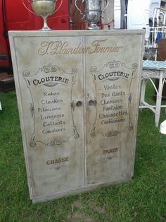 sign written small wardrobe in French, sold