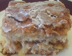 "Apple Fritter Cake | This cake is so moist and ""melt-in-your-mouth,"" you won't even miss the wheat. For real...I brought it to our first community group meeting with our new group and it was a huge hit."