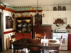 Farm Style Kitchen Design | 1900 Farmhouse kitchen, When we moved in the bottom kitchen cabinets ...
