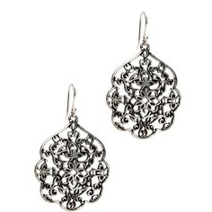 Lucky Brand Silver Thai Butterfly Earrings* ($25) found on Polyvore