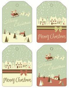 Free Printable - Christmas Countryside Gift Tags