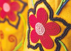 """""""Stitch by stitch, bead by bead, we tell the story of our people. Beading Patterns, Beading Ideas, Feather Design, Moccasins, Nativity, Pearls, Beadwork, Floral, Image"""