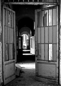 Tuscany's Abandoned Asylum for the Criminally Insane - Love the Black and White
