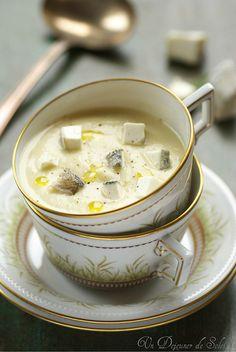 Soupe de panais et topinambour rôtis, pomme et chèvre cendré (pour 2 personnes) - Un déjeuner de soleil