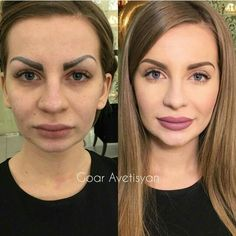 The wonderful effect of makeup: special . - The amazing effect of makeup: special transformations with the help of an experienced make-up artis - Airbrush Makeup, Contour Makeup, Eyebrow Makeup, Skin Makeup, Makeup Tips, Beauty Makeup, Beauty Makeover, Makeup Before And After, Power Of Makeup