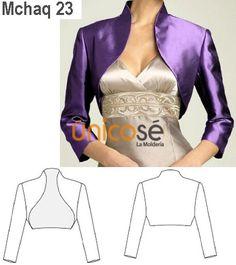 Champagne Color Satin Bolero Shrug Made to Order All Sizes 16 Colors Available Fashion Sewing, Diy Fashion, Fashion Dresses, Bolero Pattern, Jacket Pattern, Dress Sewing Patterns, Clothing Patterns, Sewing Clothes, Diy Clothes
