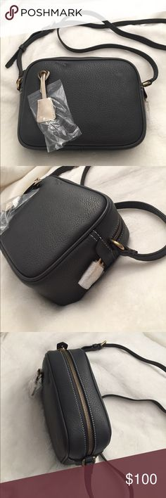 J.Crew Signet bag in Italian leather Still wrapped brand new! DEEP PEWTER (DARK GRAY)- THIS COLOR IS SOLD OUT ONLINE J. Crew Bags Crossbody Bags
