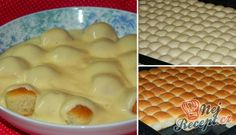 Békebeli aranygaluska vaníliakrémmel ~ A Retro Klub Hivatalos Oldala Slovak Recipes, Czech Recipes, Czech Desserts, Hungarian Desserts, Salty Snacks, Bread And Pastries, Eat Smart, Sweet Cakes, Desert Recipes