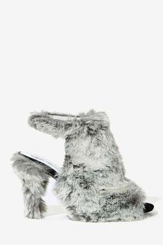 Jeffrey Campbell Lorah Faux Fur Heel - I AM LOST FOR WORDS