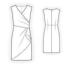 4294 Personalized Dress Pattern PDF sewing pattern por TipTopFit