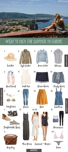 Paris outfits, summer in europe, europe travel outfits, european summer, . Europe Travel Outfits, Packing For Europe, Travel Outfit Summer, Europe Fashion, Summer Outfits, Europe Europe, Packing Tips, Travel Europe, Vacation Travel