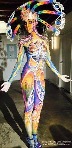 """Sacred Body ""  Body painting and photography by Lana Chromium San Diego Bodyart, Bodypainter, make-up paint, photoshoot, model, art , stars, sacred body, BFALA 2015, body fine art competition, LA, Bodypainter , model, dancer"