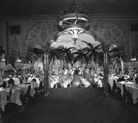 "The Cocoanut Grove at the Ambassador Hotel Los Angeles   ■ In 1954 - The Coconut Grove was turned into Neptune's Kingdom and Gertrude Forthman brought the house down as ""Queen of the Sea""…with a surprise entourage of 3 tiny sea sprites, hidden somewhere in the ambassador until their appointed appearance."