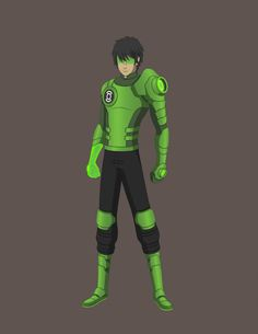 Green Lantern Kyle Rayner- Concept 2014 by Jarein on DeviantArt Green Lantern Kyle Rayner, Blue Lantern, Green Lantern Corps, Green Lanterns, Character Concept, Character Art, Character Design, Superhero Characters, Dnd Characters