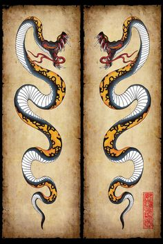 Traditional Japanese Snake Tattoo Design Most Popular Ideas Japanese Snake Tattoo, Japanese Dragon Tattoos, Japanese Sleeve Tattoos, Small Japanese Tattoo, Neue Tattoos, Hand Tattoos, Tattoos For Guys, Cool Tattoos, Traditional Snake Tattoo
