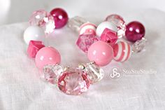 Pinkalicious Chunky Necklace for Girls by lilmarandco on Etsy, $25.00