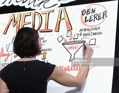 ImageThink graphic recording during 'How to Remain Relevant In Today's Digital Age' during the 2015 SXSW Music, Film + Interactive Festival at Austin Convention Center on March 13, 2015 in Austin, Texas.