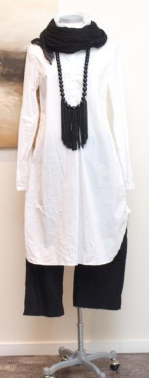 Rundholz; Long tunic, white - Summer 2014