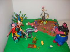 Popeye and Olive- Plasticine Art