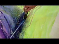Artist Bette Ridgeway creates gorgeous poured paintings