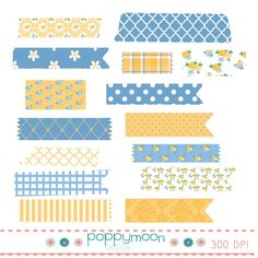Digital set of 15 clip art elements. All clip arts are so are high quality files. Clip art file format: PNG (Transparent) Approximately, 6 x 6 The pack includes: 15 Washi tapes- Different patterns and color variations. Printable Stickers, Cute Stickers, Masking Tape, Duct Tape, Washi Tapes, Washi Tape Planner, Digital Journal, Bullet Journal Ideas Pages, Journal Stickers