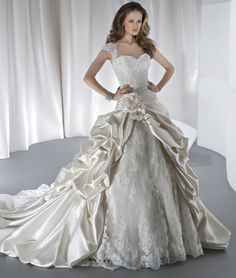 Sposabella Style 4314 by Demetrios  Arriving at Anjolique this Friday March 7!  Call us 704-892-6450