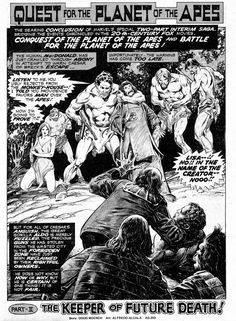 Archives Of The Apes: Marvel Comics: Quest For The Planet Of The Apes (1976)
