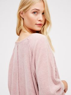 Camilla Christensen || FP My Oversized Slouchy Pullover Sweatshirt (Dusty Rose)
