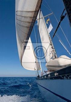 Fototapeta żaglowiec na morzu - uroda - łódź • PIXERS.pl
