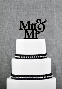 Mr & Mr Gay Wedding Cake Topper | ThatGaySite.com