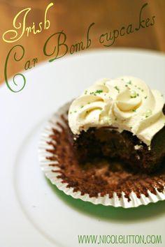 Irish Car Bomb cupcakes :) So so good.