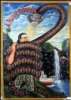 Anaconda, is a 1997 adventure-horror film, directed by Luis Llosa, starring Jennifer Lopez,  Jon Voight. Ghana Film Poster