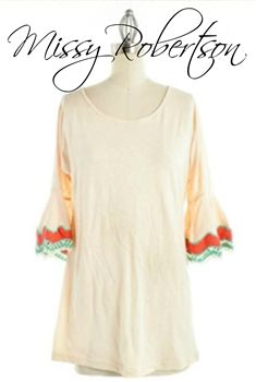 Delilah Lace Top in Ivory by Missy Robertson $79.99 #SouthernFriedChics