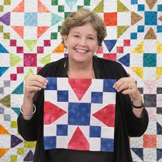 "As catchy of a campaign slogan as or Fight"" is, it makes an even more dynamic and striking quilt! Watch Jenny as she teaches us how to create this vintage quilt in this free, easy-to-make… Star Quilt Patterns, Star Quilts, Easy Quilts, Quilt Blocks, Doll Patterns, Sewing Patterns, Missouri Quilt Tutorials, Quilting Tutorials, Quilting Projects"