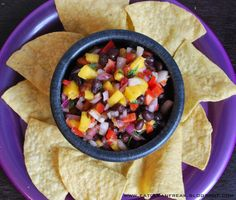 black bean corn and mango salsa - Google Search