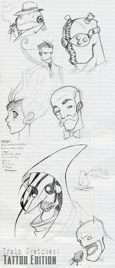 Train Sketches: Tattoo Edition by Zatransis on DeviantArt