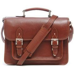 """ONA  The Brooklyn Premium Leather Camera Satchel (Coming Soon!) - Chestnut  Handcrafted with full-grain leather Fully customizable, soft interior with 3 dividers Secure, easy access tuck lock closure  Room for an SLR camera and 2-3 lenses Adjustable padded shoulder strap  Exterior dimensions: 13.5""""L X 10""""H X 4""""D Weight: 2.8 pounds"""