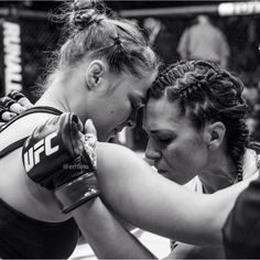 A true champ. Ronda Rousey and Cat Zingano. Rousey told her she would accept a rematch.
